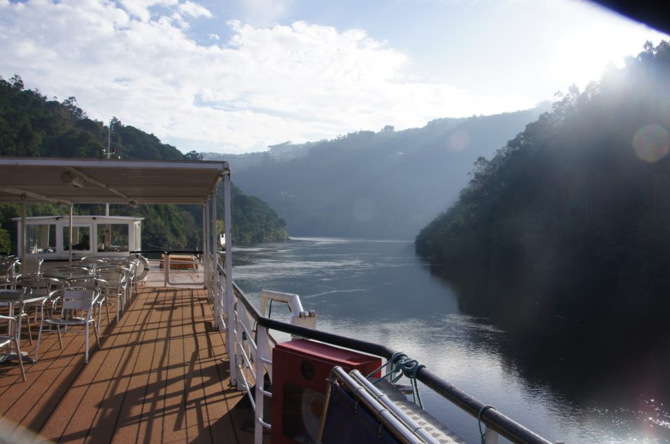 River cruises: the relaxing deck of a river cruise boat