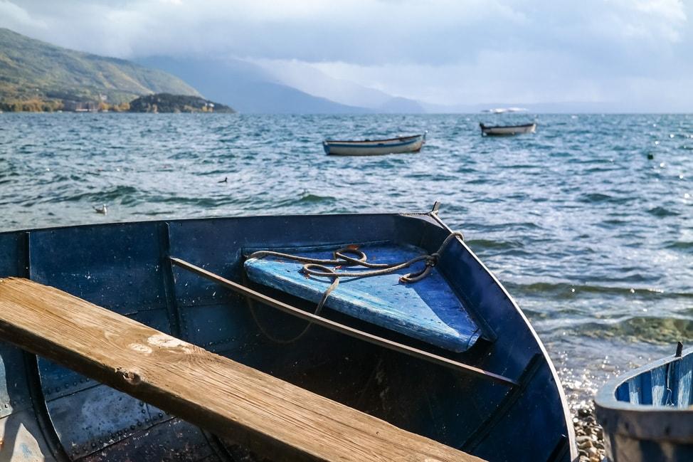lake ohrid stormy seas