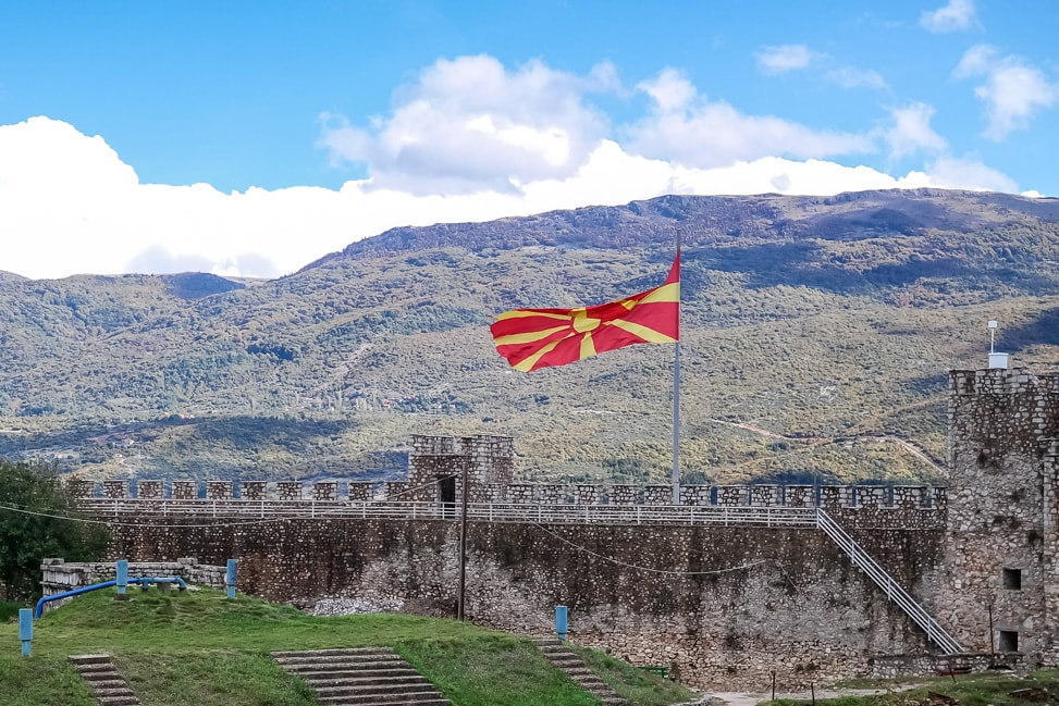lake ohrid fortress flag