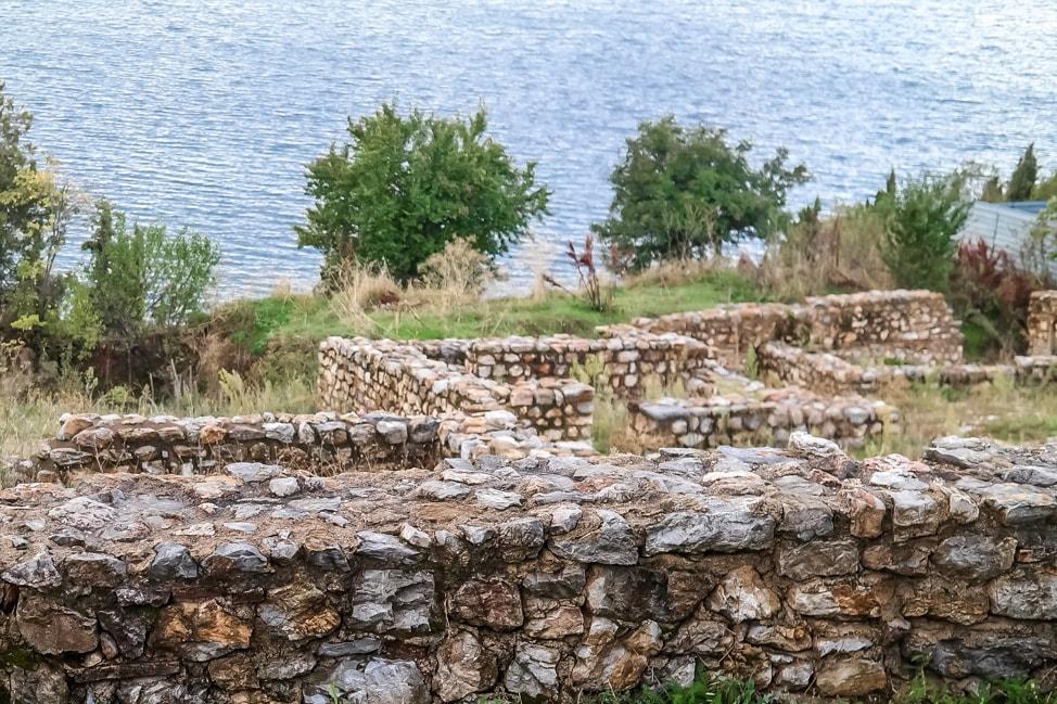 lake ohrid ruins