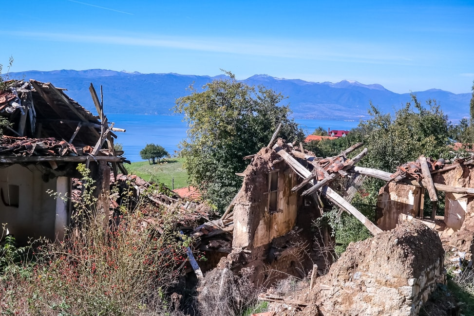 lake ohrid village remains