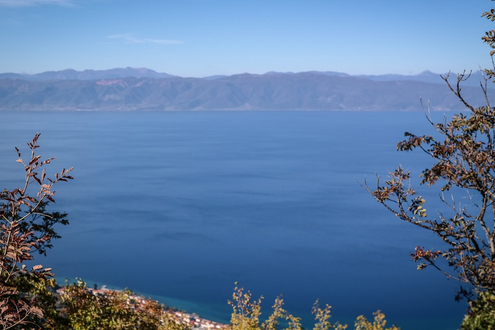 lake ohrid landscape