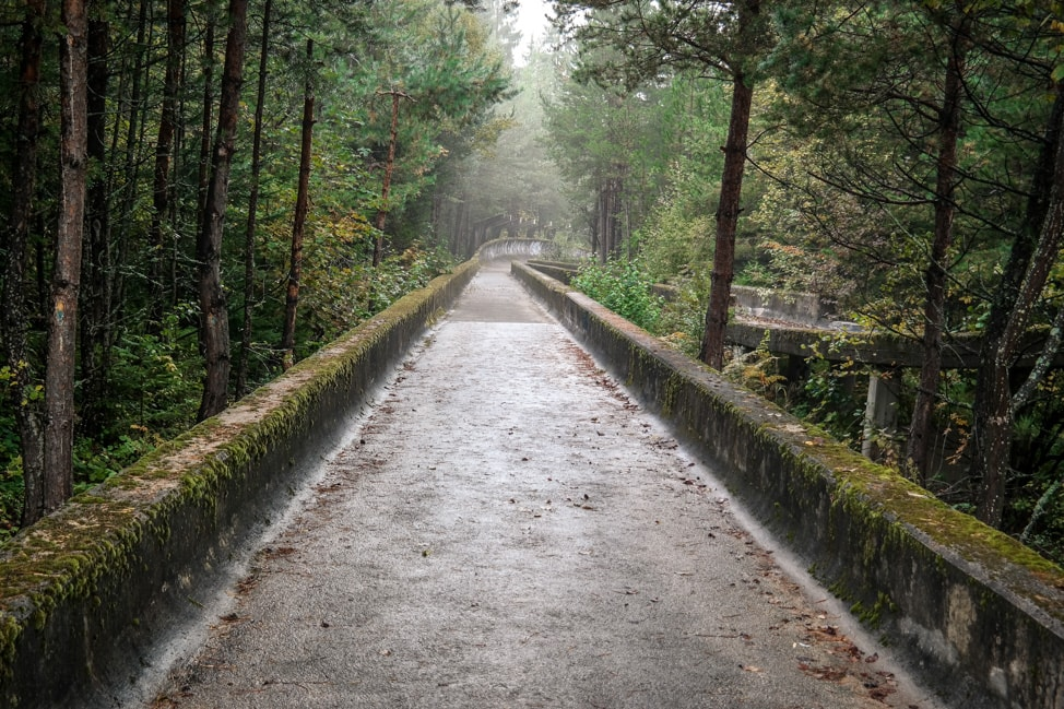 Europe Road Trip: The abandoned bobsled track in Sarajevo