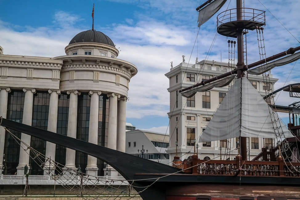 skopje macedonia pirate ship