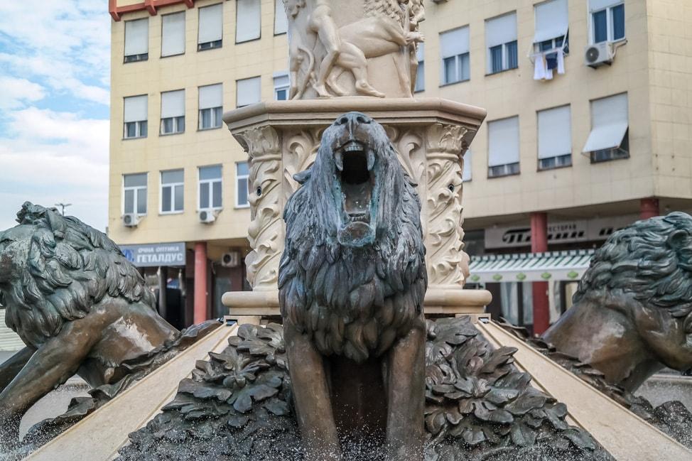 skopje 2014 lion fountain