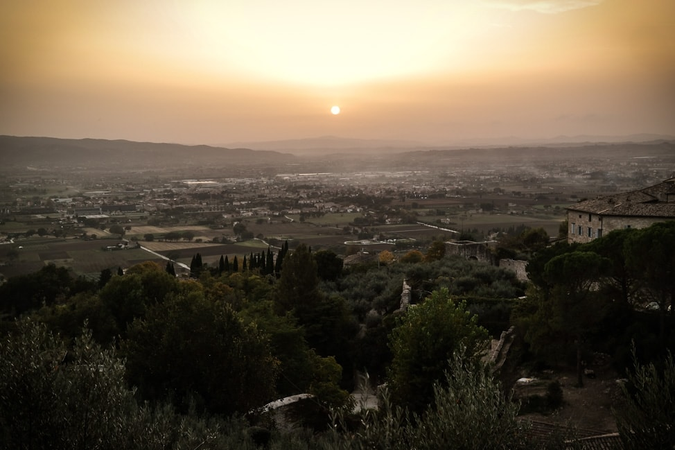 Assisi, Italy: a perfect Umbrian sunset