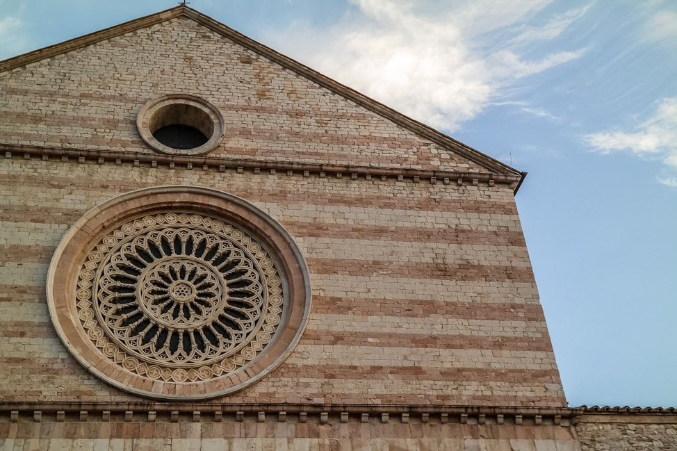 Assisi, Italy: the exterior of one of the many Assisi churches