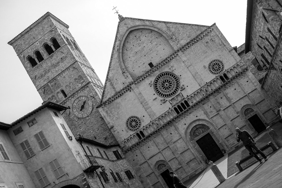 Assisi, Italy: one of the main churches in the heart of Assisi