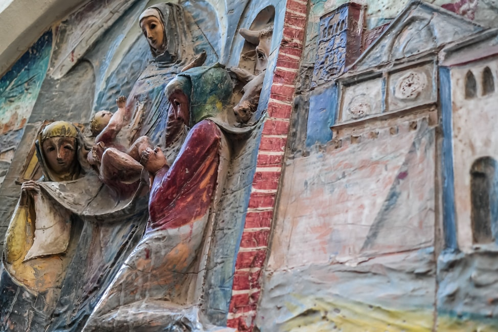 Assisi, Italy: lots of religious scultpures