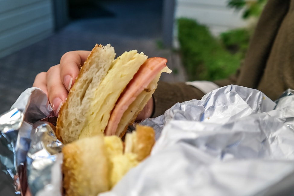 california road trip breakfast sandwich
