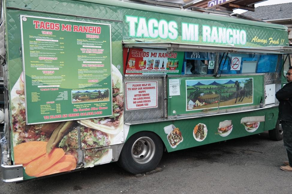 downtown Oakland: Tacos mi Rancho taco truck