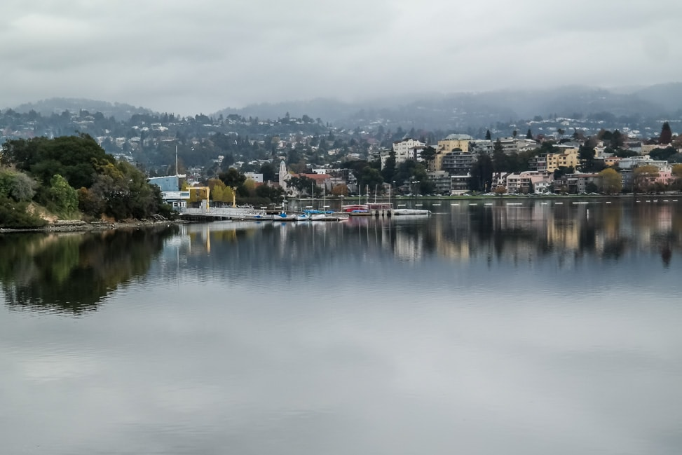 Downtown Oakland: the view across Lake Merritt
