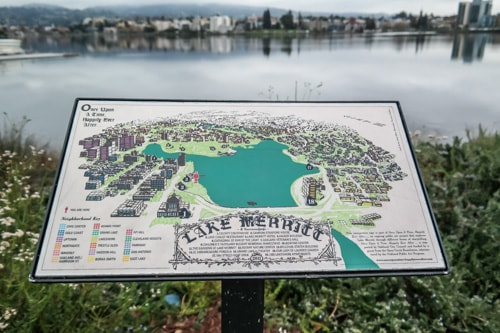 Downtown Oakland: The map of Lake Merritt