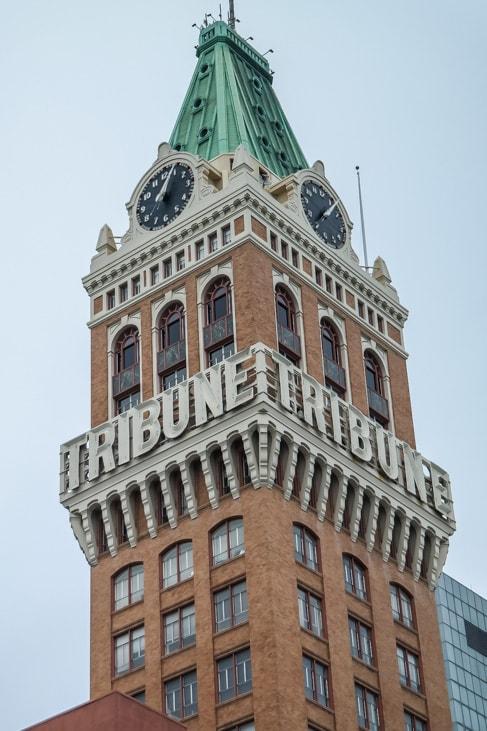 Downtown Oakland: the historic Tribune building