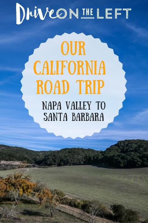 california road trip pin