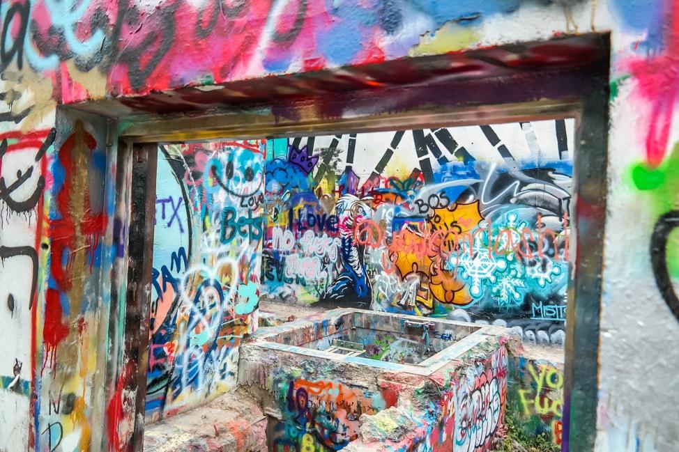 austin city graffiti close up