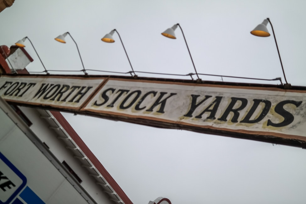 Visit Fort Worth: the entrance to the Stockyards Historic District
