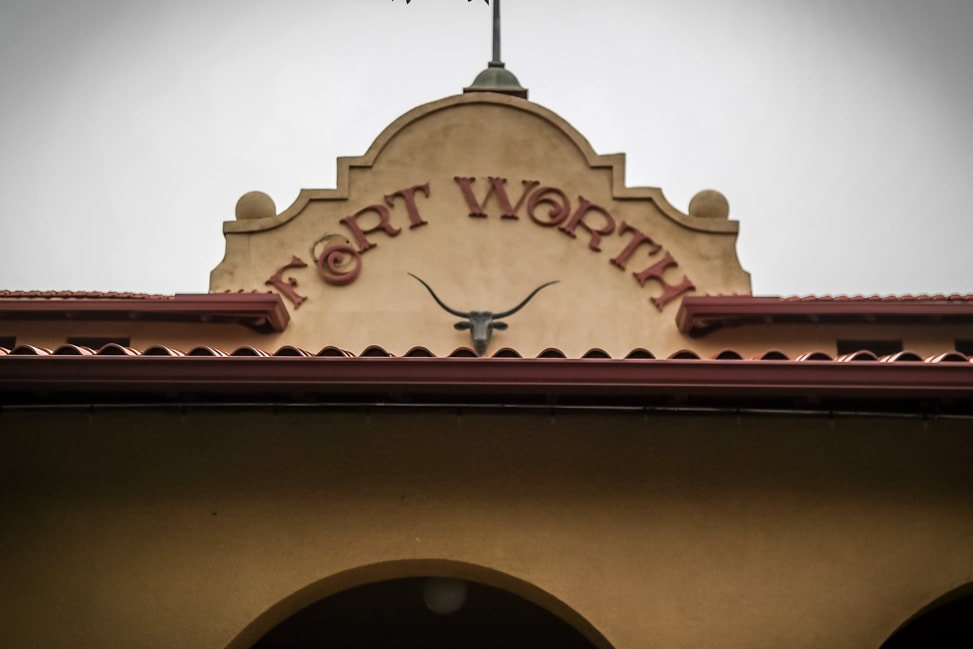 Visit Fort Worth: the entrance to the Stockyards Livestock Exchange