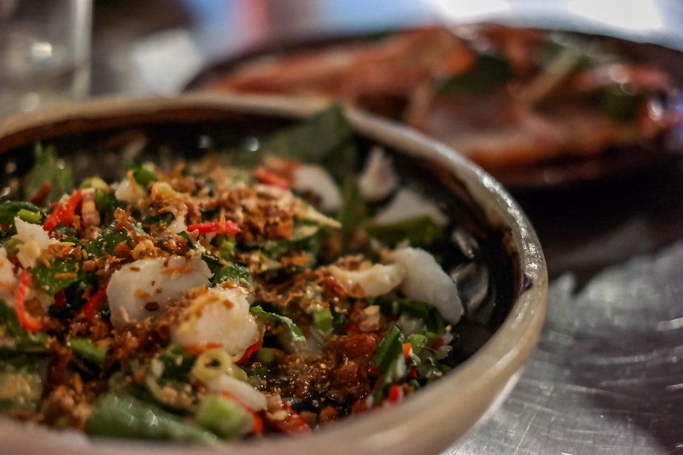 unique London restaurants: Laotian-style pollock with lemongrass and chiles at Kiln in SoHo