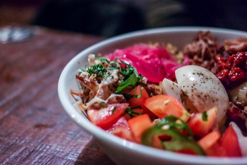 unique London restaurants: the rice bowl at Bar Shawarma