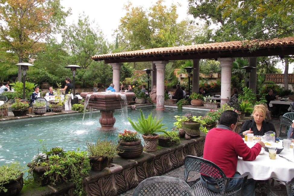 Visit Fort Worth: the outside patio at Joe T. Garcia's in Fort Worth