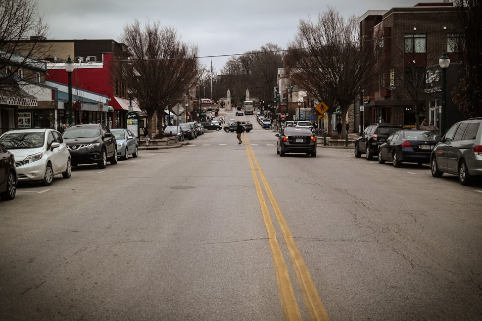 Things to Do in Bloomington, Indiana: Kirkwood Ave, the main drag for the IU campus