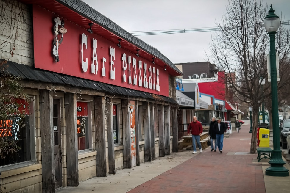 Things to Do in Bloomington, Indiana: Cafe Pizzaria, one of the oldest spots in Bloomington