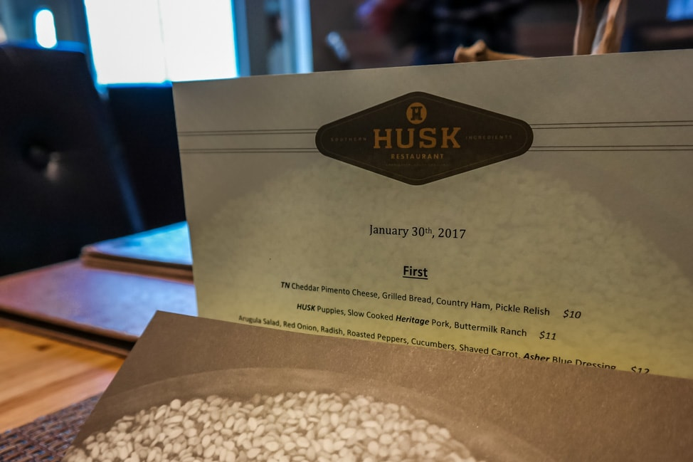 best things to do in charleston: the daily menu at Husk