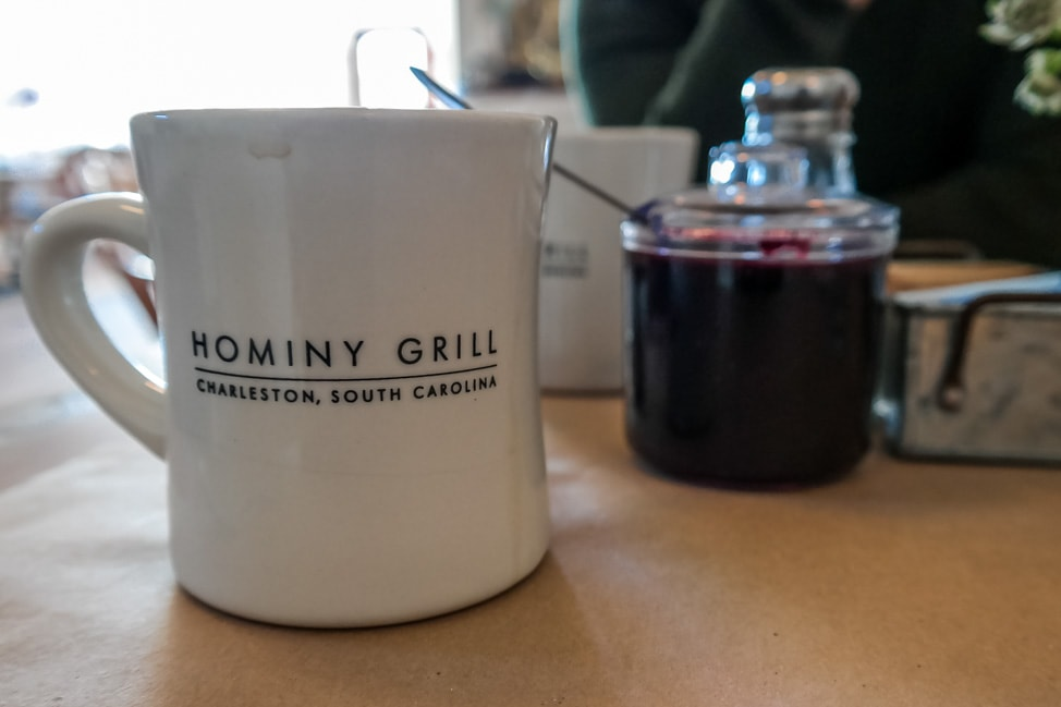 best things to do in charleston: a mug of coffee at the legendary Hominy Grill