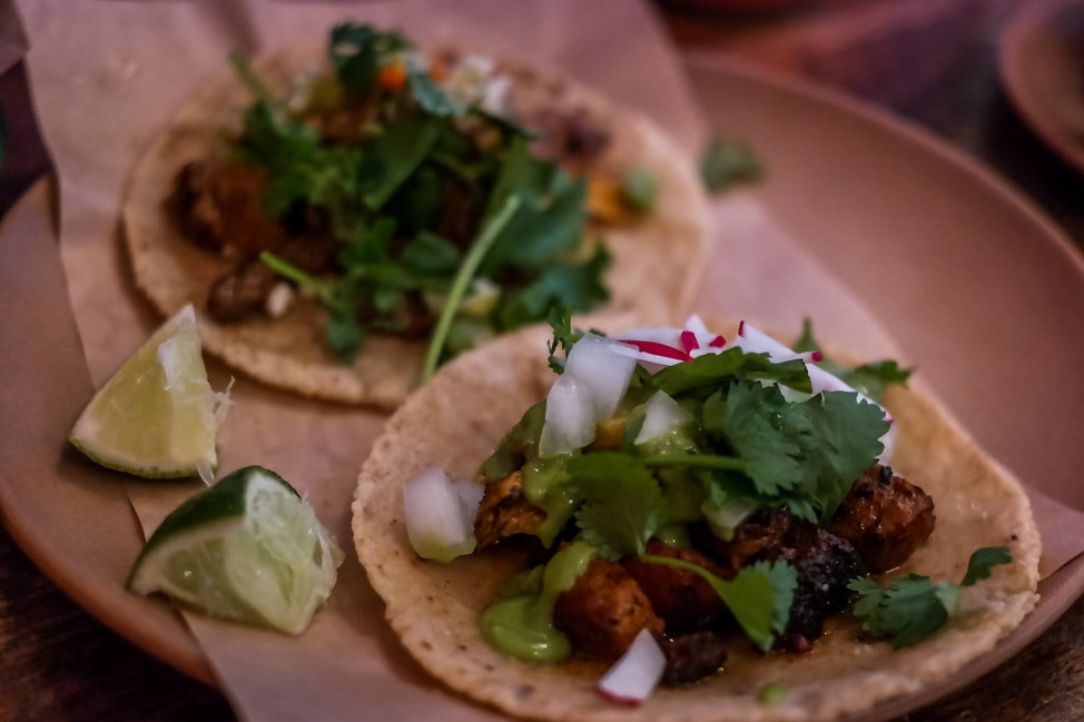best things to do in charleston: delicious pork tacos at Minero