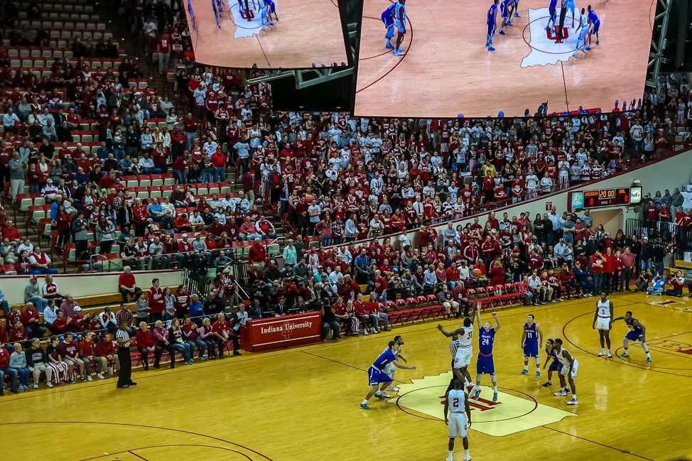 Things to Do in Bloomington, Indiana: tip-off at an IU basketball game at Alumni Hall