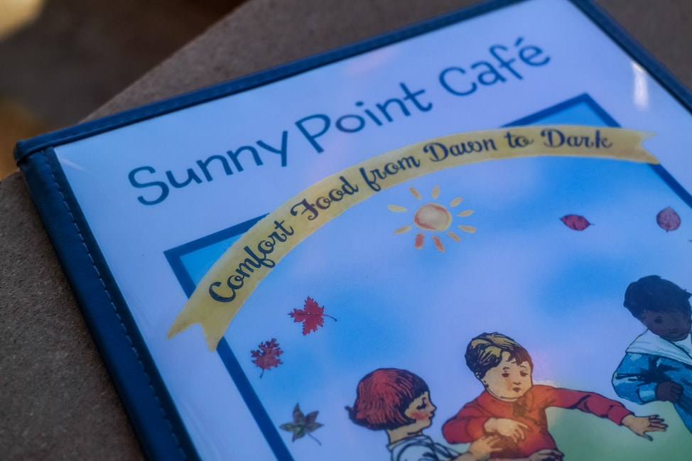 The best West Asheville breakfast: the colorful Sunny Point cafe menu