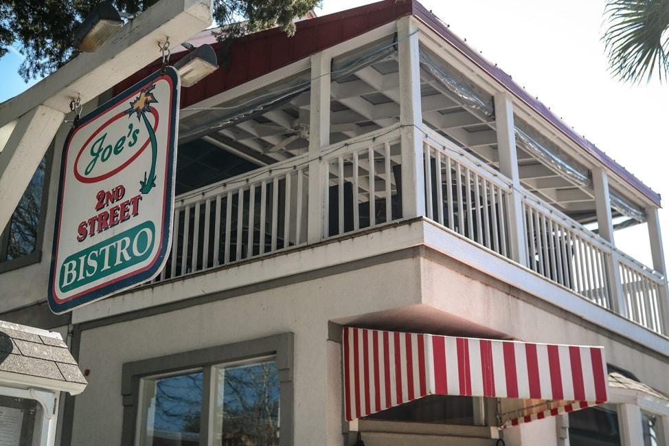 amelia island wedding joe's 2nd street bistro in downtown Fernandina Beach