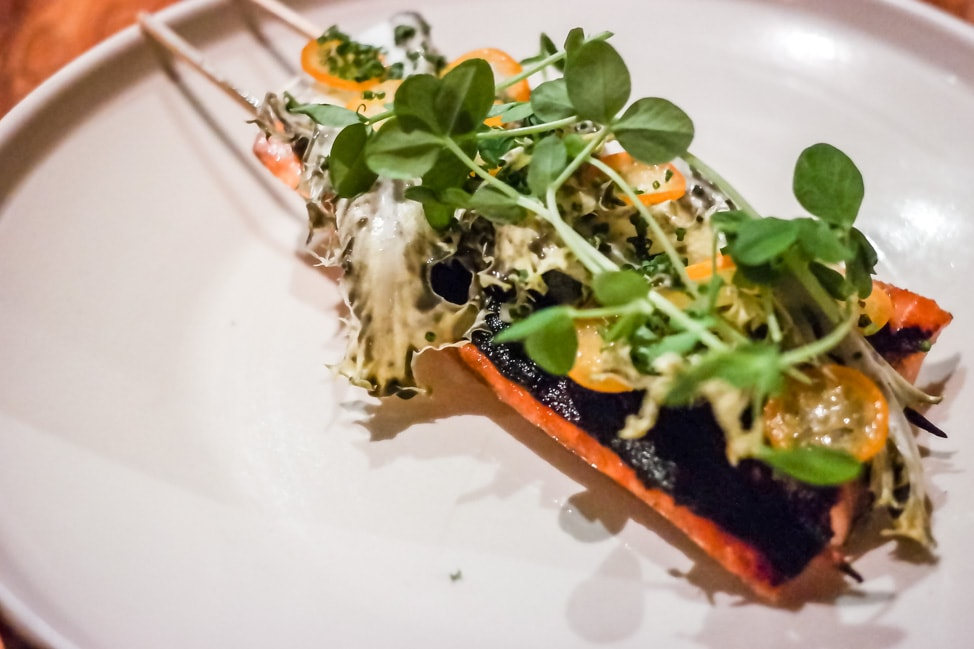 Grilled trout with kumquats at Rich Table, San Francisco
