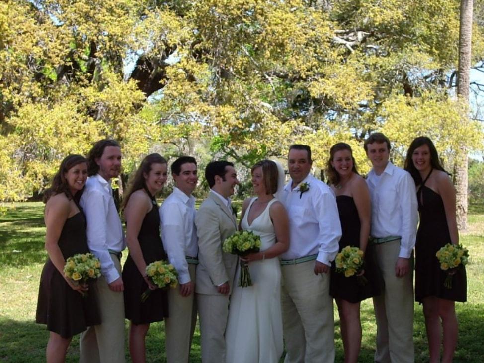 amelia island wedding the wedding party ten years ago