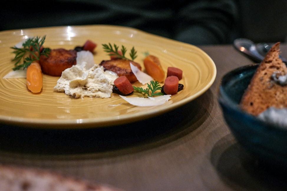 Carrot dish at M Threadneedle Street