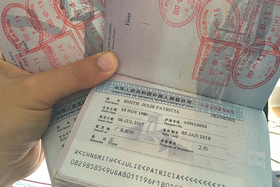 visa application for china from us